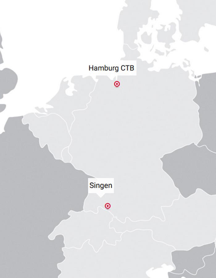 Fahrplan Hamburg CTB - Singen